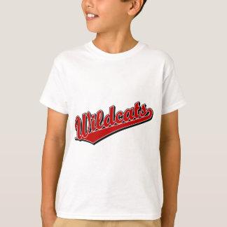 赤の山猫の原稿のロゴ Tシャツ