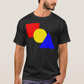 赤の広場、黄色い円および青い三角形 Tシャツ