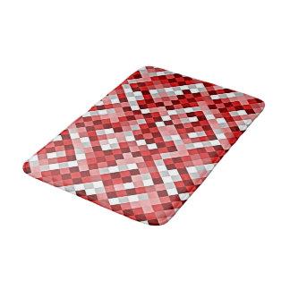 赤の抽象的なタイルパターンバス・マット バスマット