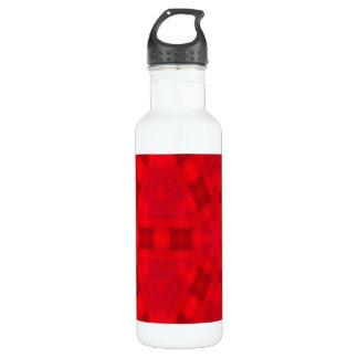 赤の抽象的な木製パターン ウォーターボトル