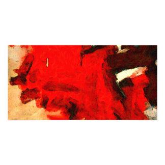 赤の抽象的な絵画 カード