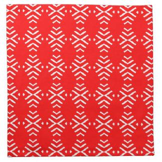 赤の抽象芸術との4の置かれるナプキン ナプキンクロス