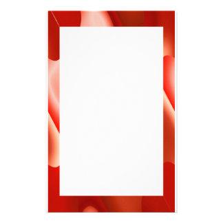 赤の抽象芸術のボーダー 便箋