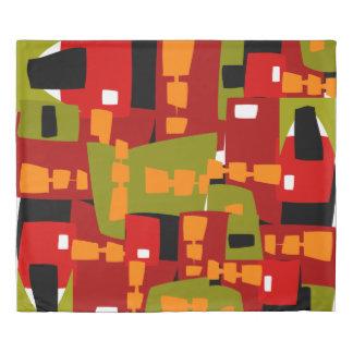 赤の抽象芸術の無秩序 掛け布団カバー
