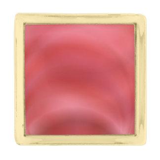 赤の抽象芸術 ゴールド ラペルピン