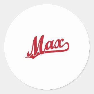 赤の最高の原稿のロゴ ラウンドシール