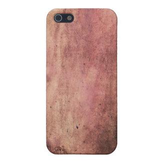 赤の汚された及び引きずられる、グランジな及び汚れた血の染み iPhone 5 COVER