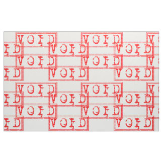 赤の法的拘束力がない無効のタイポグラフィの単語 ファブリック