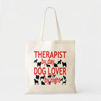 赤の犬の恋人のセラピスト トートバッグ