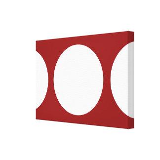 赤の白い円 キャンバスプリント