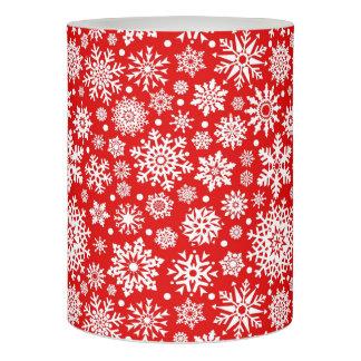 赤の白い雪片 LEDキャンドル