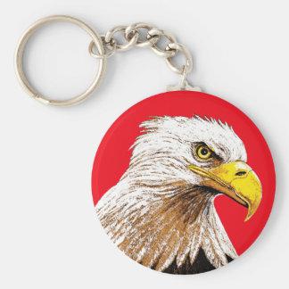 赤の白頭鷲 キーホルダー