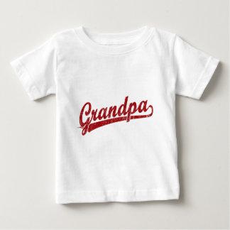 赤の祖父の原稿のロゴ ベビーTシャツ