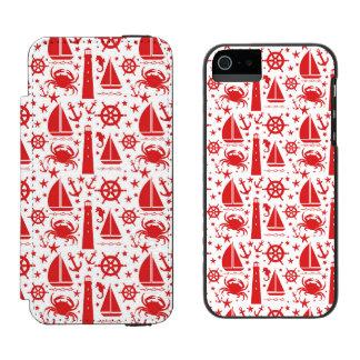 赤の航海のなコラージュ INCIPIO WATSON™ iPhone 5 財布 ケース