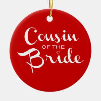 赤の花嫁の白のいとこ セラミックオーナメント