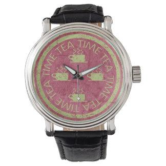 赤の茶時間緑 腕時計