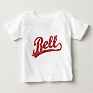 赤の鐘の原稿のロゴ ベビーTシャツ