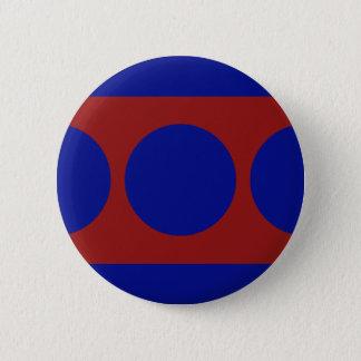 赤の青い円 5.7CM 丸型バッジ