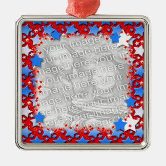 赤の青く白い星 メタルオーナメント