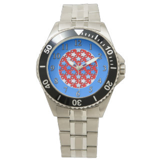赤の青く白い星 腕時計