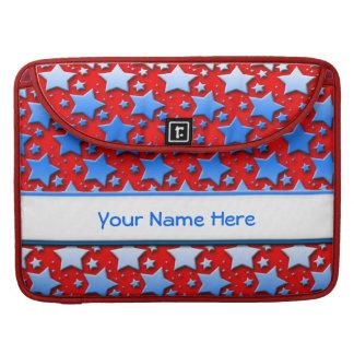 赤の青く白い星 MacBook PROスリーブ