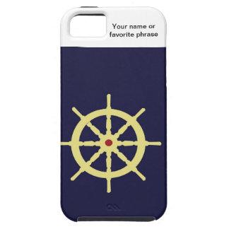 赤の黄色い船の車輪 iPhone SE/5/5s ケース
