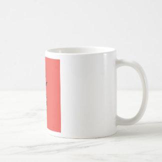 赤の黒いマツApple コーヒーマグカップ