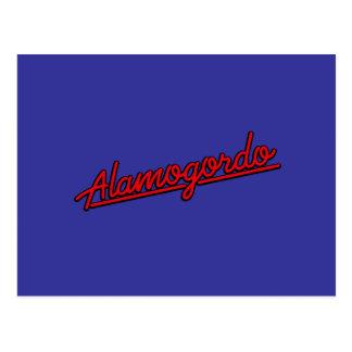赤のAlamogordo ポストカード