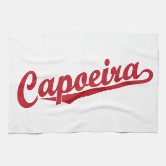 赤のCapoeira キッチンタオル