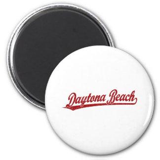 赤のDaytona Beachの原稿のロゴ マグネット