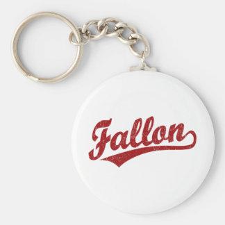 赤のFallonの原稿のロゴ キーホルダー