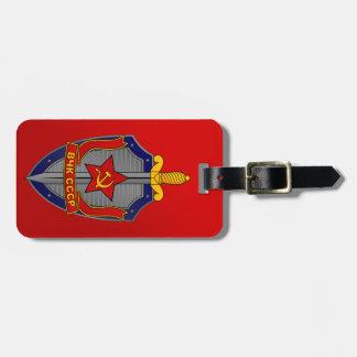 赤のKGBの盾 ラゲッジタグ