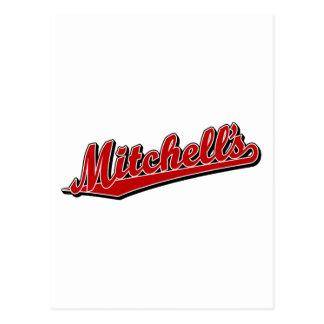 赤のMitchell ポストカード