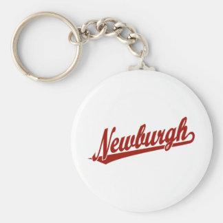 赤のNewburghの原稿のロゴ キーホルダー