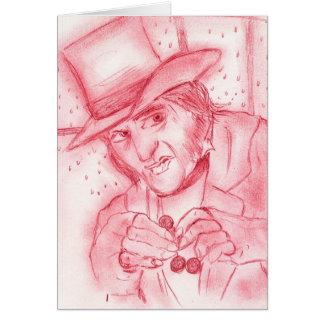 赤のScrooge グリーティングカード