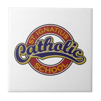 赤のSt Ignatiusのカトリック系の学校の青 タイル