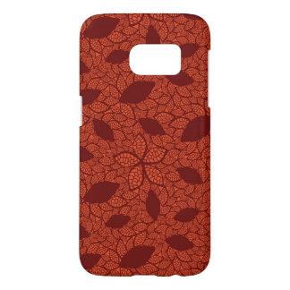 赤はオレンジのパターンを残します SAMSUNG GALAXY S7 ケース