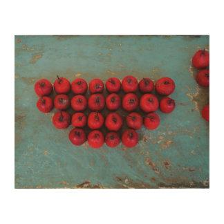 赤はファインアート静物画の実を結びます ウッドウォールアート