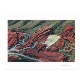 赤は劇場、赤い石の公園を揺すります ポストカード