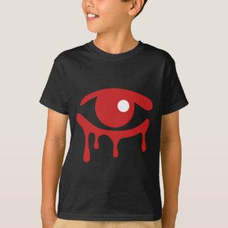 赤は子供の黒いTシャツを引き裂きます Tシャツ