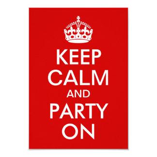 赤は平静を保ち、誕生日でパーティを楽しみます カード