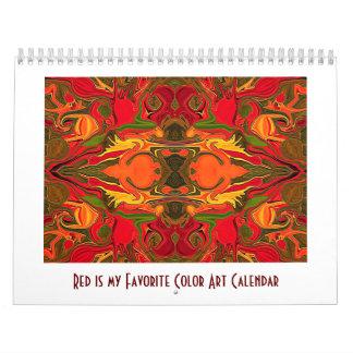 赤は私のお気に入りのな色です カレンダー