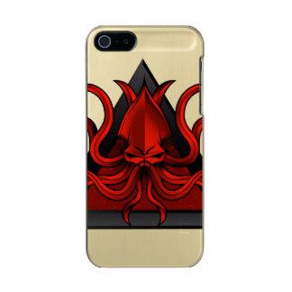 赤は絵をkraken メタリックiPhone SE/5/5sケース