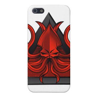赤は絵をkraken iPhone 5 カバー