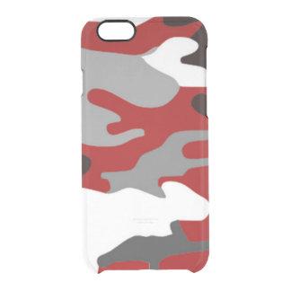 赤は迷彩柄を尾行します クリアiPhone 6/6Sケース