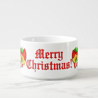 赤は金鐘お祝いのメリークリスマスを曲げます チリボウル