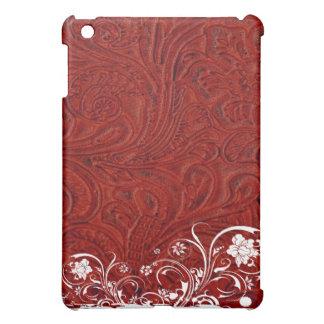赤は革スタイルのぼろぼろの上品に用具を使いました iPad MINI CASE