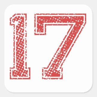 赤はJerzee第17を遊ばします スクエアシール