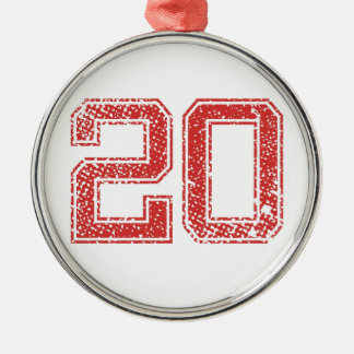 赤はJerzee第20を遊ばします メタルオーナメント