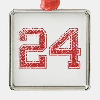 赤はJerzee第24を遊ばします メタルオーナメント